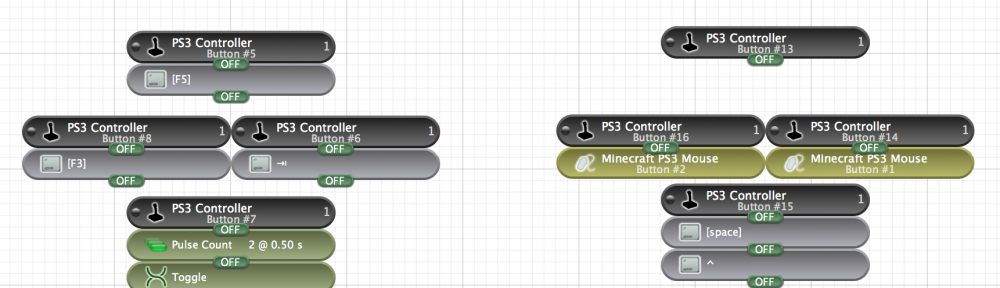 【マイクラ】MacでMinecraftするのにPS3のコントローラーが使いたかったから、入力デバイスの操作性を向上させるControllerMateを導入してみたよ!